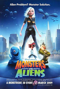 Monsters vs Aliens (2009) Movie Poster